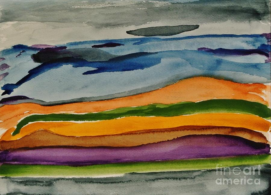 Abstractscape Painting  - Abstractscape Fine Art Print