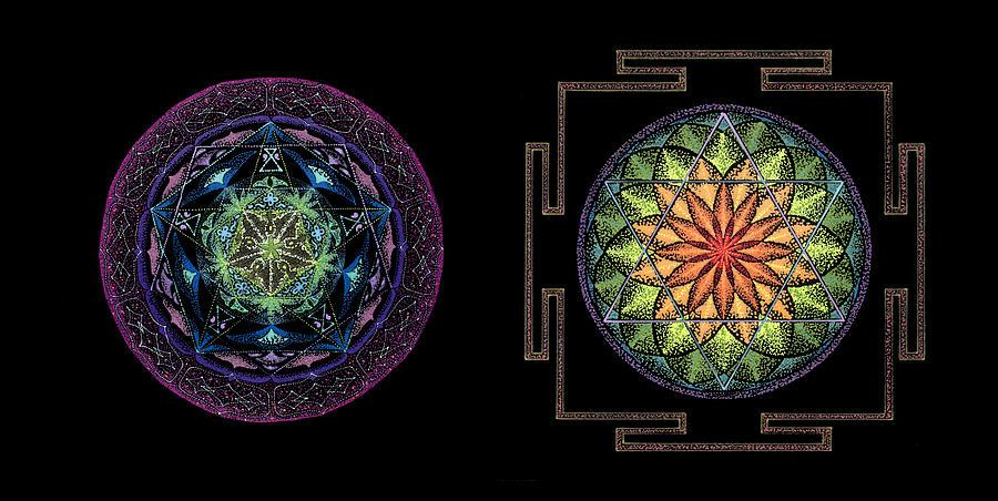 Healing Mandala Painting - Abundance  Prosperity by Keiko Katsuta