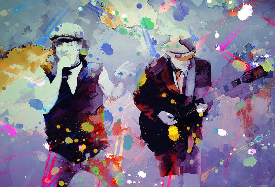 Ac Dc Art : Ac dc ii painting by rosalina atanasova