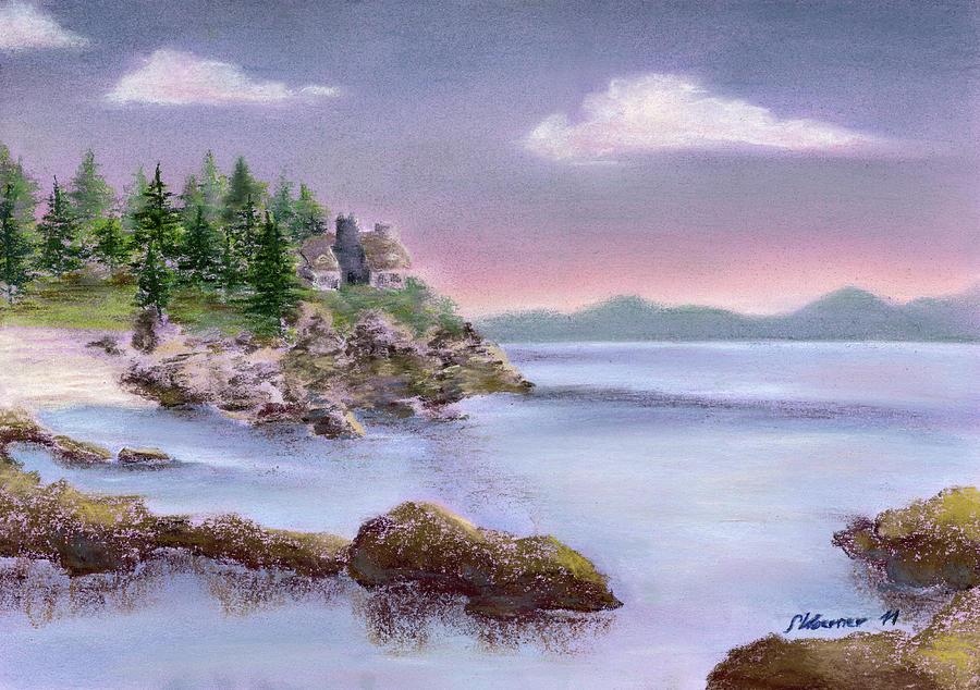 Acadia Pastel - Acadia Sunrise Schooner Head by Stephanie Woerner