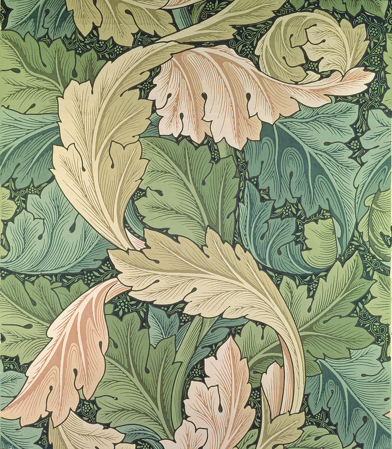 Acanthus Wallpaper Design Tapestry - Textile