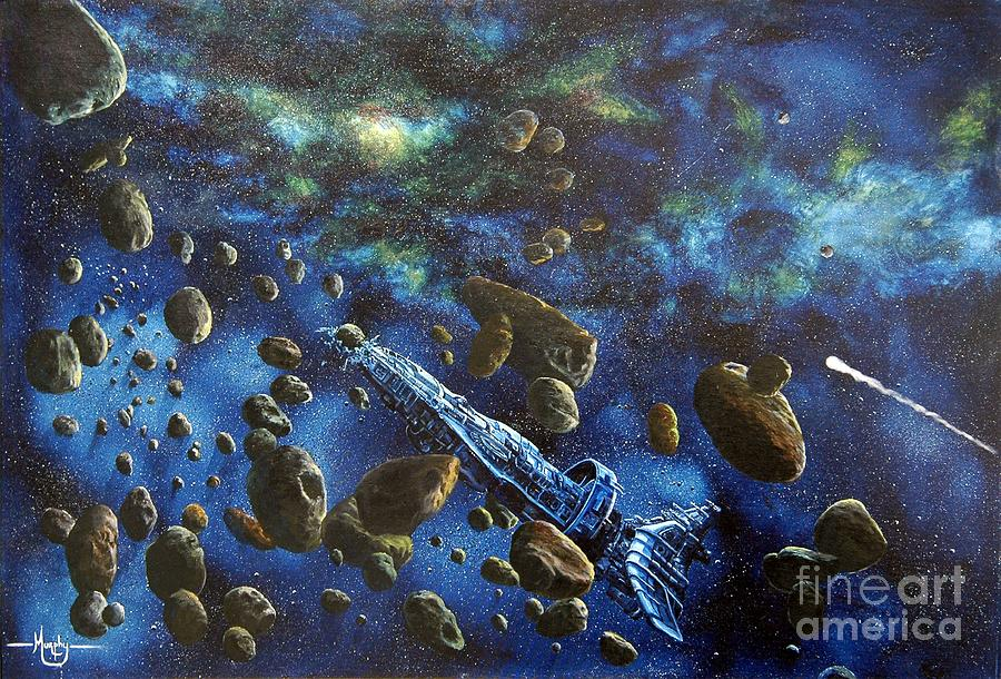 Astro Painting - Accidental Asteroid by Murphy Elliott