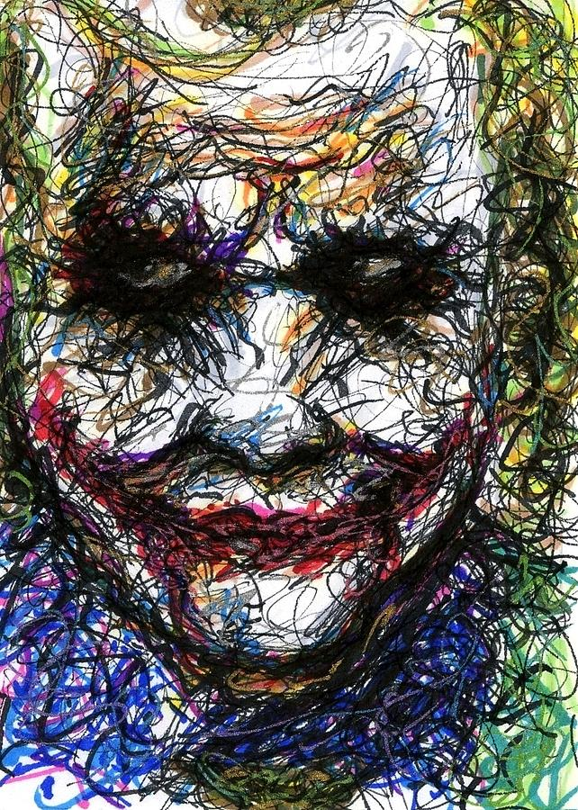 Aceo Joker II Drawing  - Aceo Joker II Fine Art Print