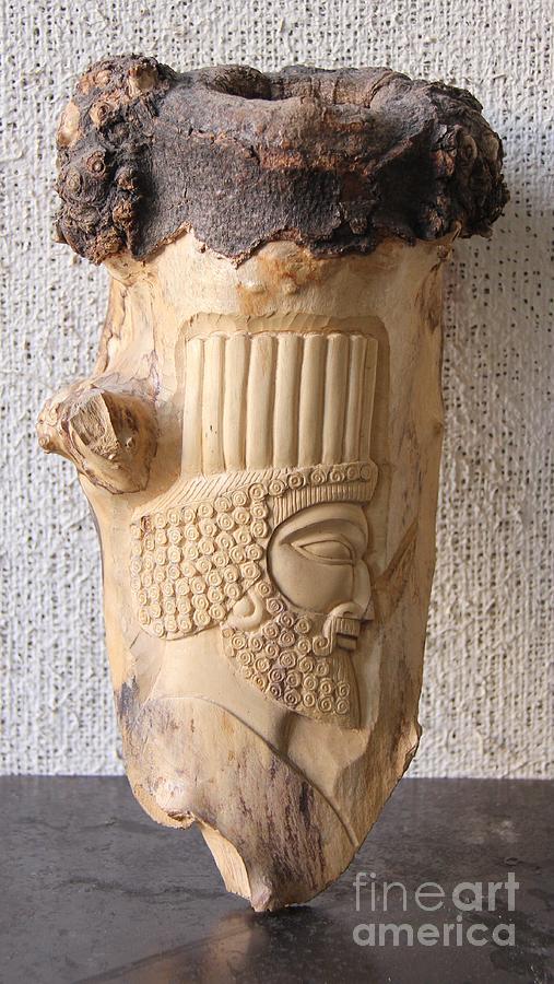 Achaemenian Soldier Relief Sculpture Wood Work Relief