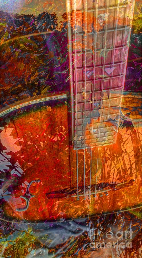 Acoustic Dreams Digital Guitar Art By Steven Langston Photograph  - Acoustic Dreams Digital Guitar Art By Steven Langston Fine Art Print