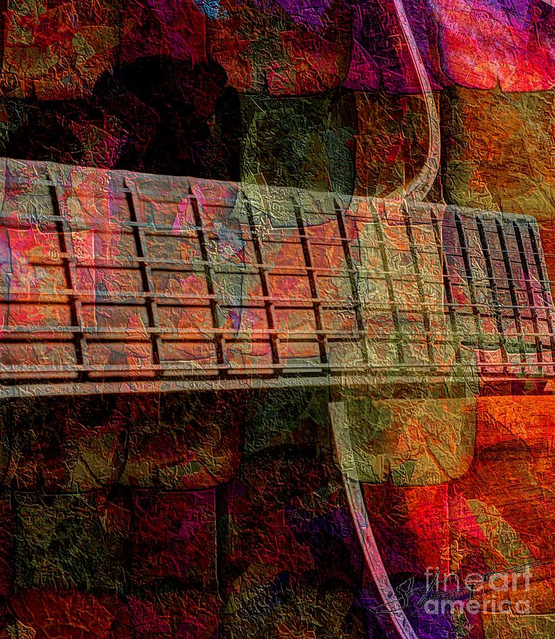 Acoustic Palette Digital Guitar Art By Steven Langston Photograph  - Acoustic Palette Digital Guitar Art By Steven Langston Fine Art Print