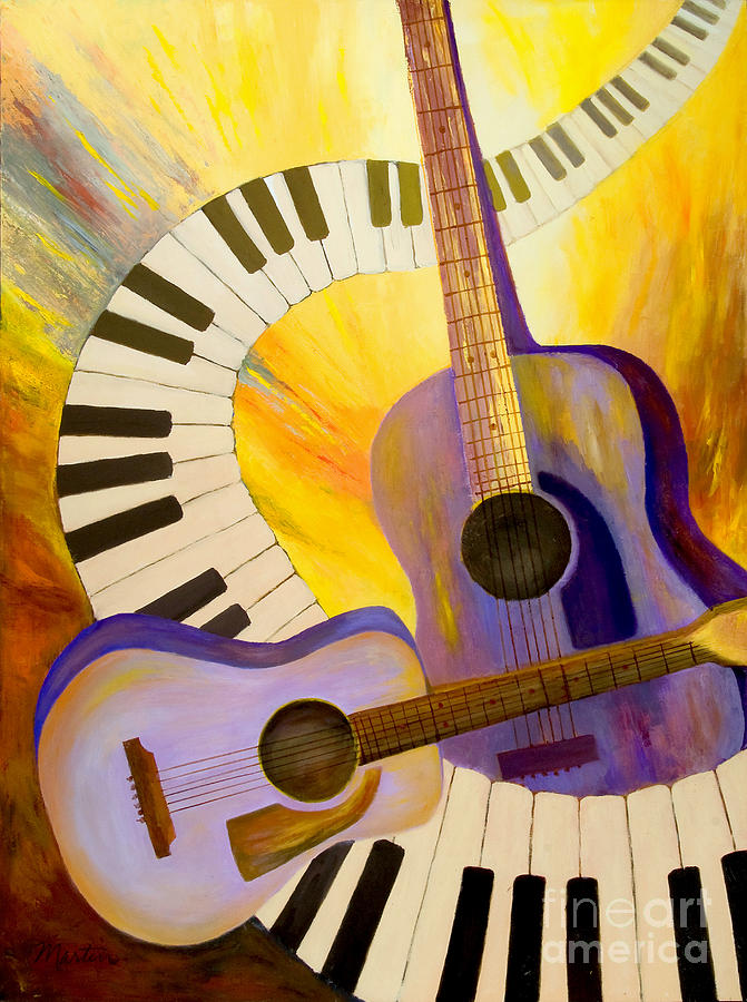 Music Painting - Acoustics In Space by Larry Martin