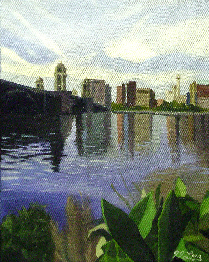 Across The Charles Painting  - Across The Charles Fine Art Print