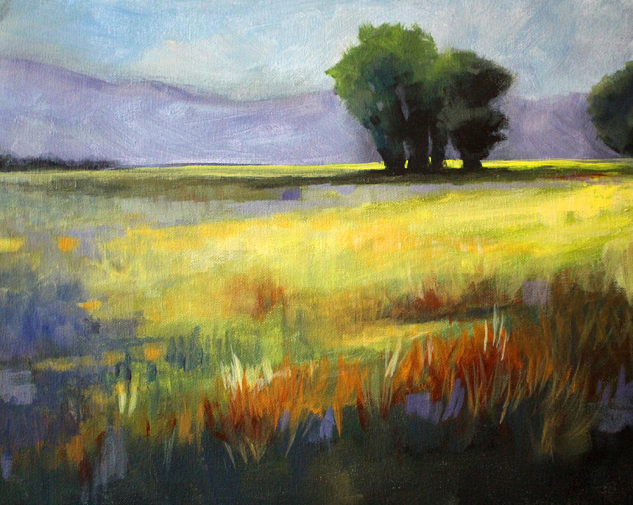 Across The Field Painting  - Across The Field Fine Art Print