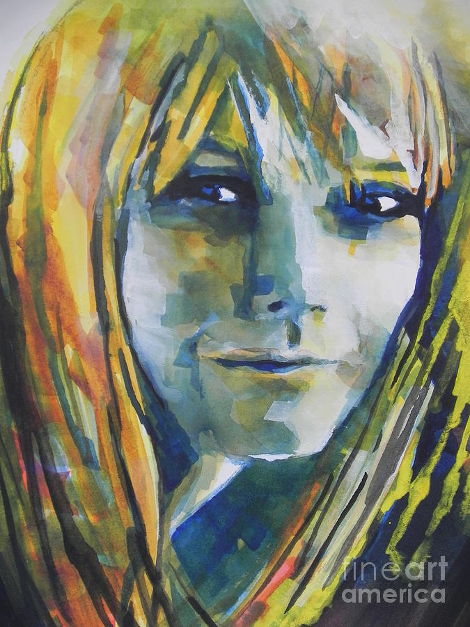 Actress Gwyneth Paltrow Painting