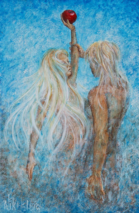 Adam And Eve Painting - Adam And Eve  by Nik Helbig
