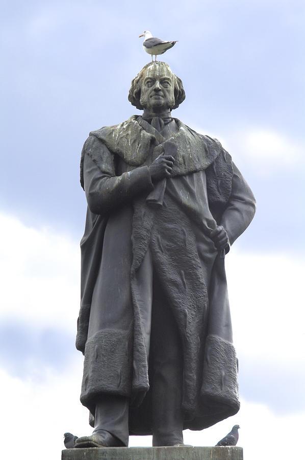 Adam Black Statue And Friend Photograph