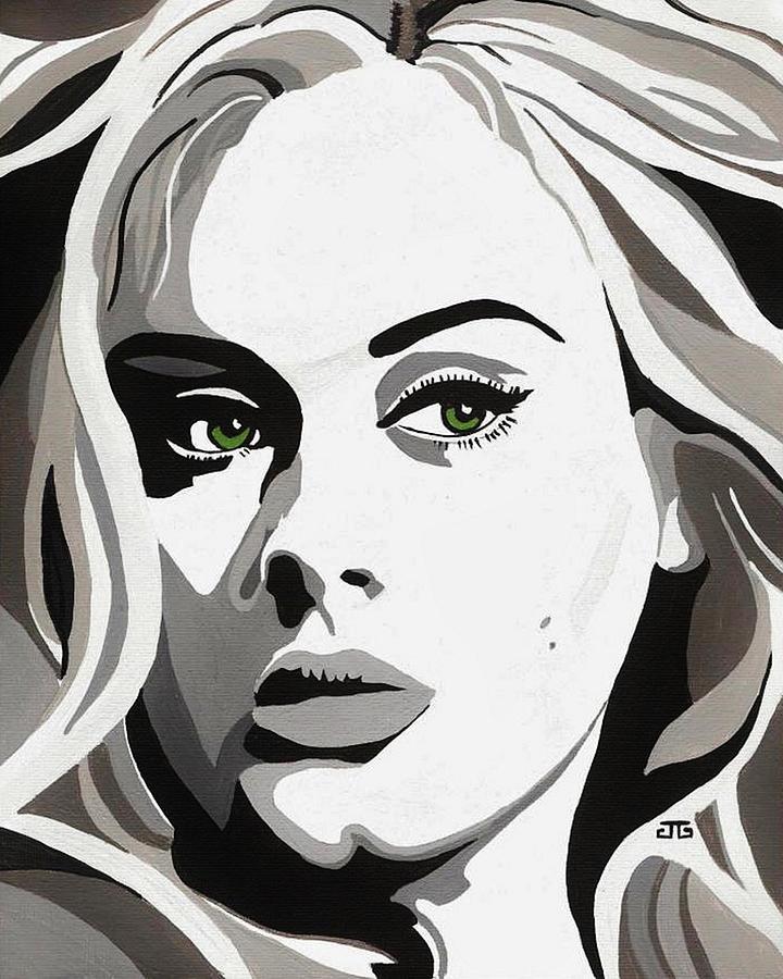 Adele Painting - Adele by Jesse Glenn
