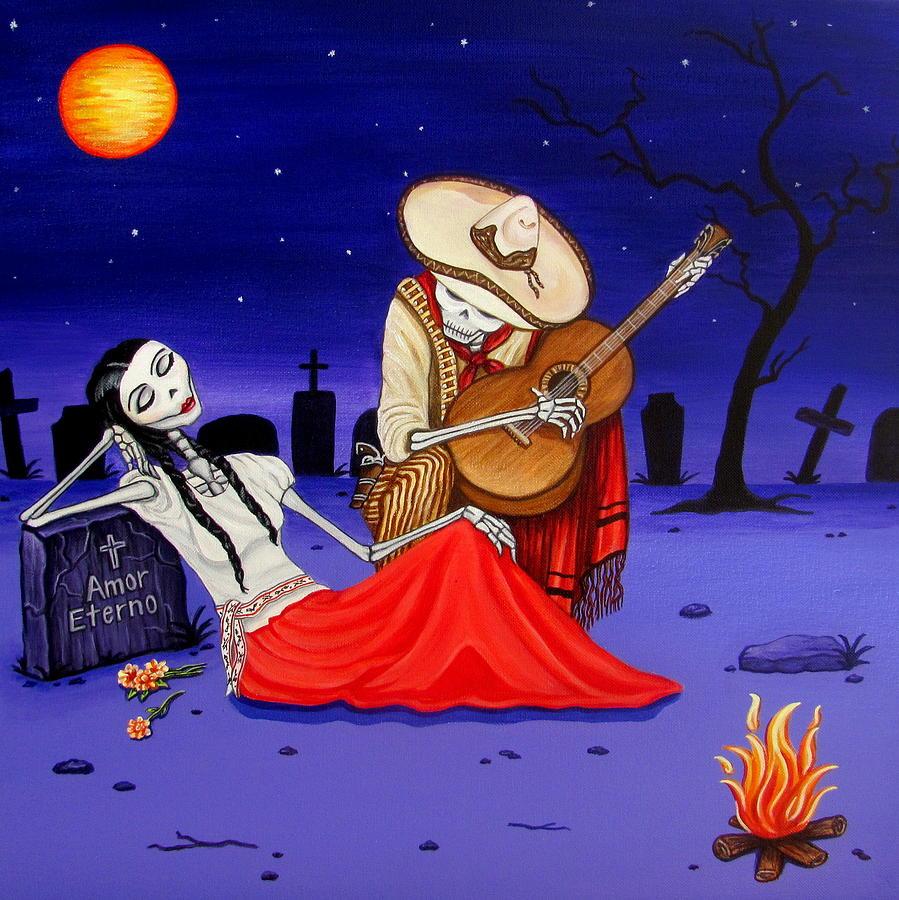 Adelita Y Juan Cementery Painting
