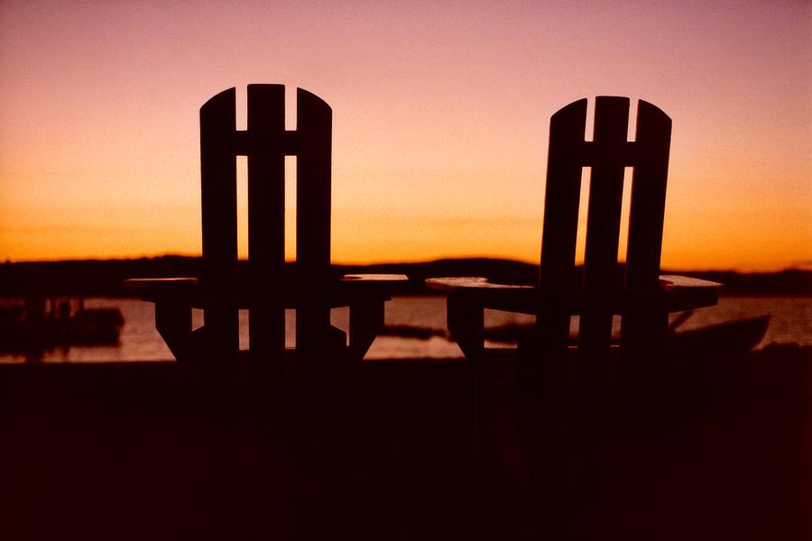 adirondack chair silhouette adirondack chairs at sunset