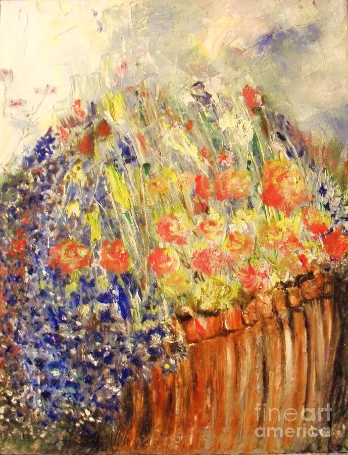Adirondack Floral Painting