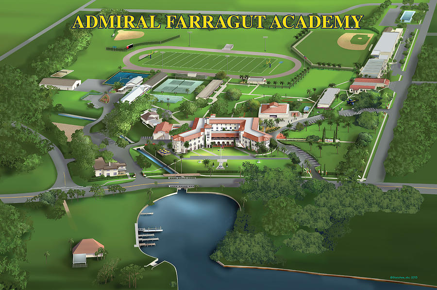 Admiral Farragut Academy Painting - Admiral Farragut Academy by Rhett and Sherry  Erb