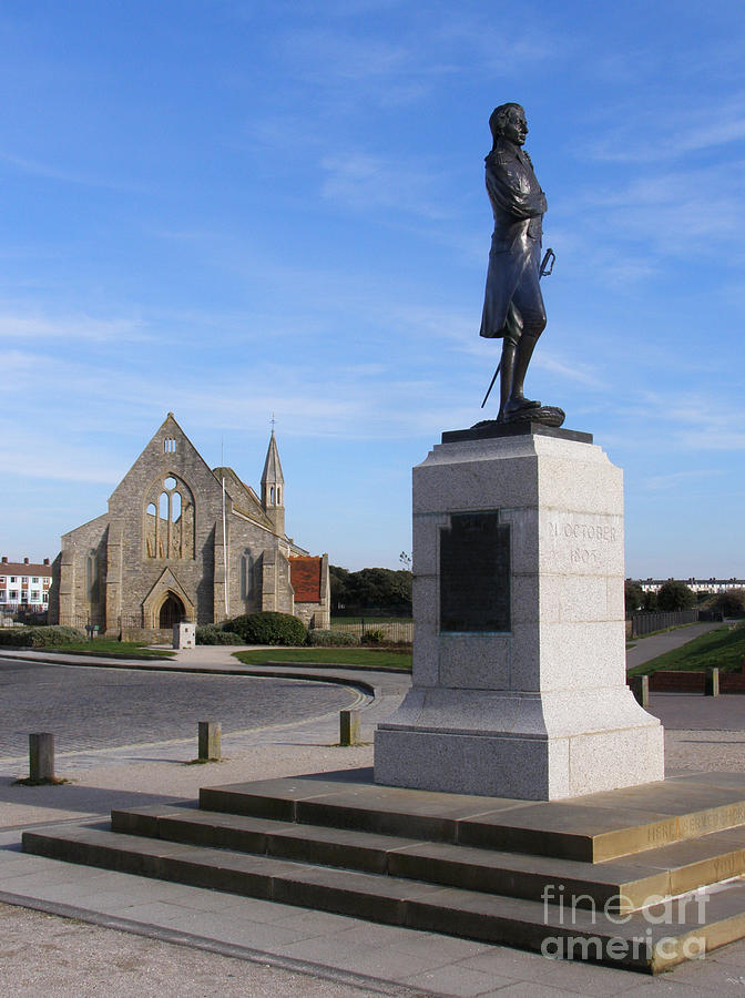 Admiral Lord Nelson And Royal Garrison Church Photograph