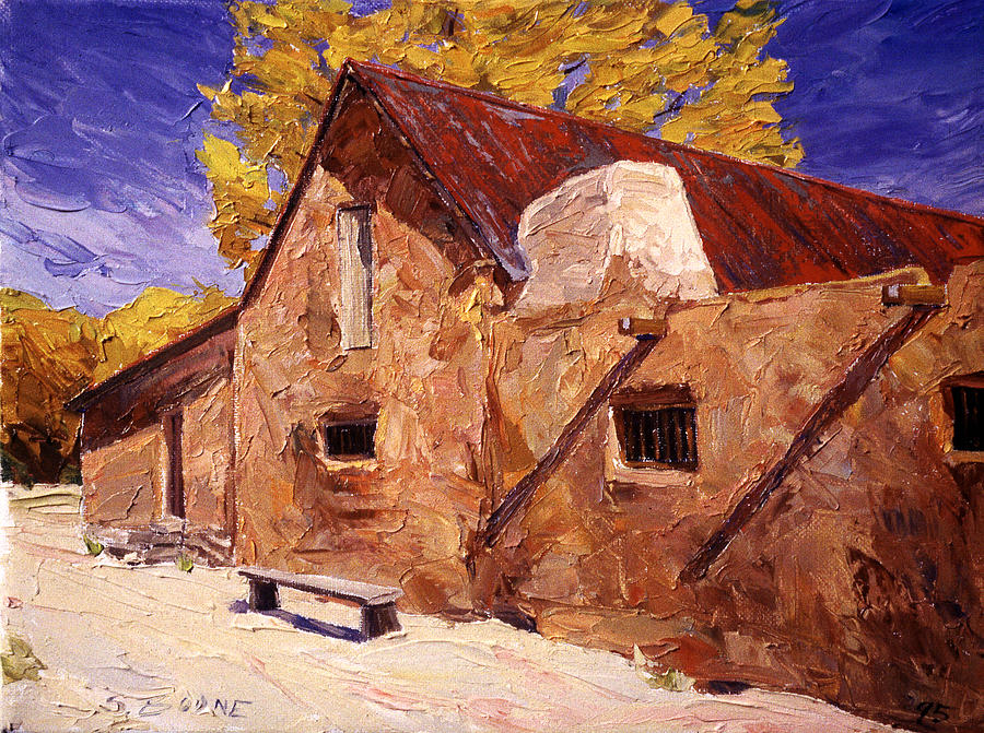 Adobe House At Golindrinas Painting  - Adobe House At Golindrinas Fine Art Print