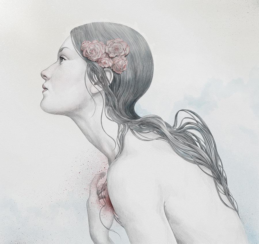 Woman Digital Art - Adoration by Diego Fernandez