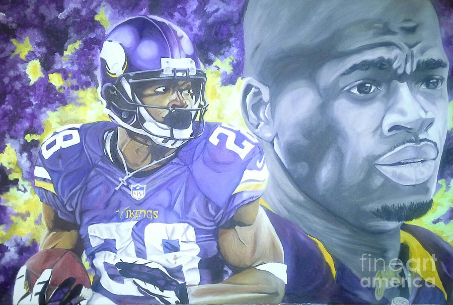 Adrian Peterson  Painting  - Adrian Peterson  Fine Art Print