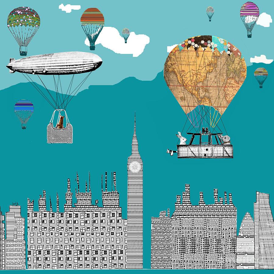 London City Art Painting - Adventure Days London by Bri B