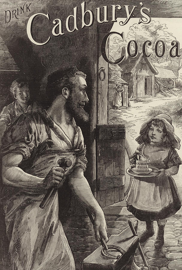 Blacksmiths Drawing - Advertisement For Cadburys Drinking Cocoa by English School