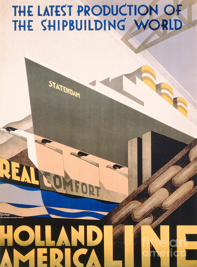 Advertisement For The Holland America Line Painting