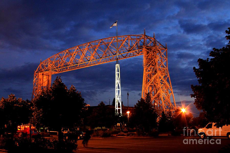 Aerial Lift Bridge Photograph