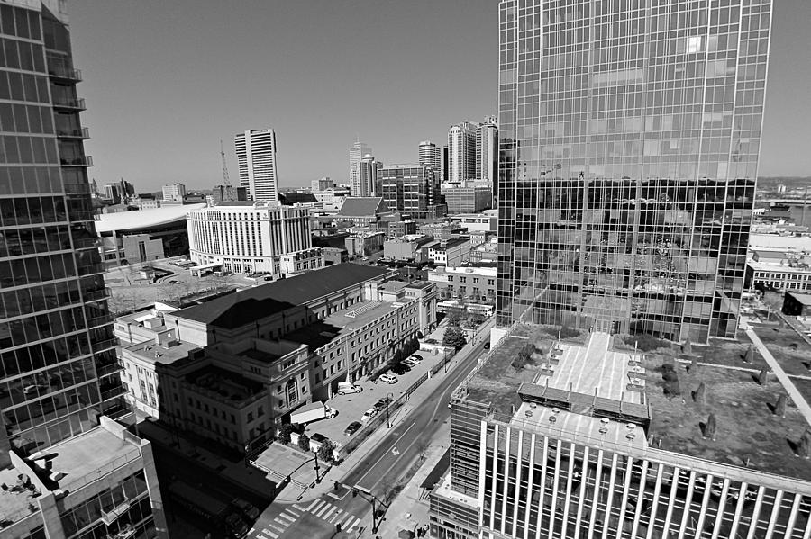 Aerial Photography Downtown Nashville Photograph - Aerial Photography Downtown Nashville by Dan Sproul