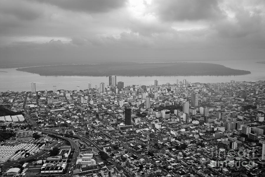Architecture Photograph - Aerial View Of Guayaquil City by Sami Sarkis