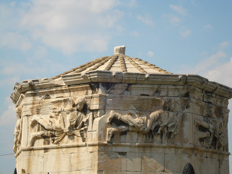 Pláka Is The Old Historical Neighborhood Of Athens Sculpture - Aerides by Greek View