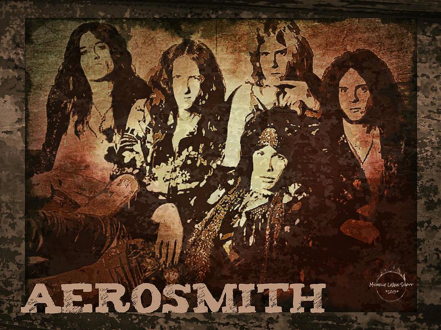 Aerosmith digital art aerosmith back in the saddle by absinthe art