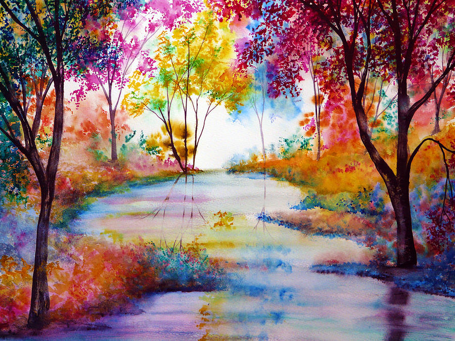 Hand Painted Painting - Affinity by Ann Marie Bone