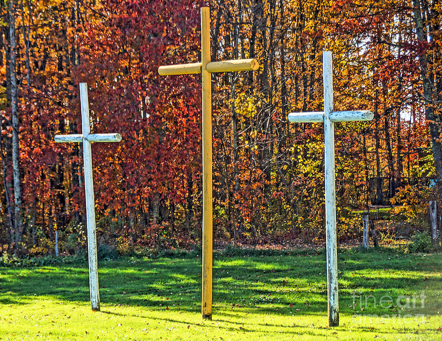 Affinity Road Crosses Of Mercy Photograph  - Affinity Road Crosses Of Mercy Fine Art Print