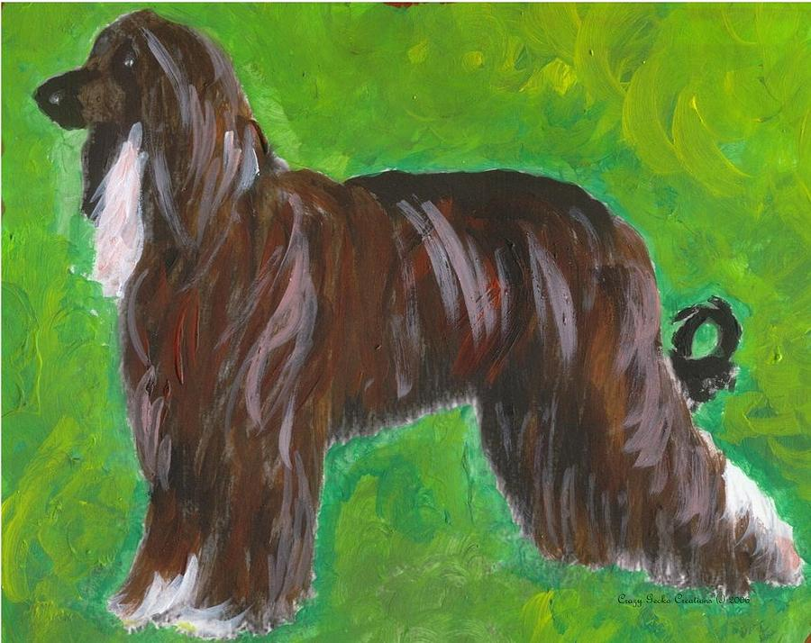 Afghan Hound Dog Painting by Olde Time Mercantile