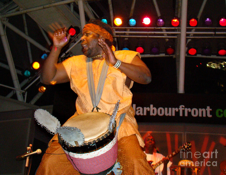 African Drummer Photograph