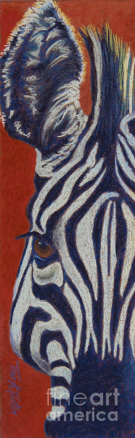 Zebra Pastel - African Stripes by Tracy L Teeter