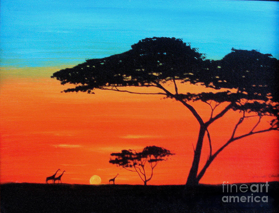 African Sunrise by Ron Chabot: fineartamerica.com/featured/african-sunrise-ron-chabot.html