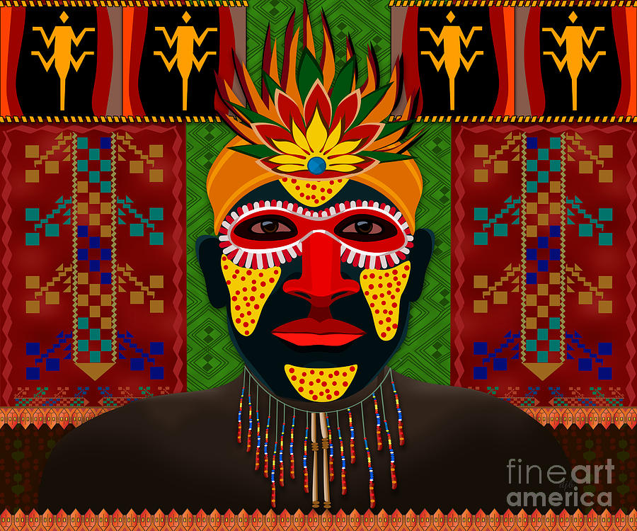 African Tribesman 1 Digital Art