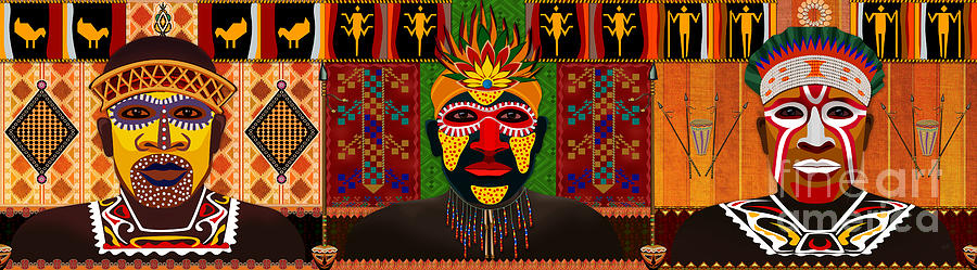 African Tribesmen Digital Art