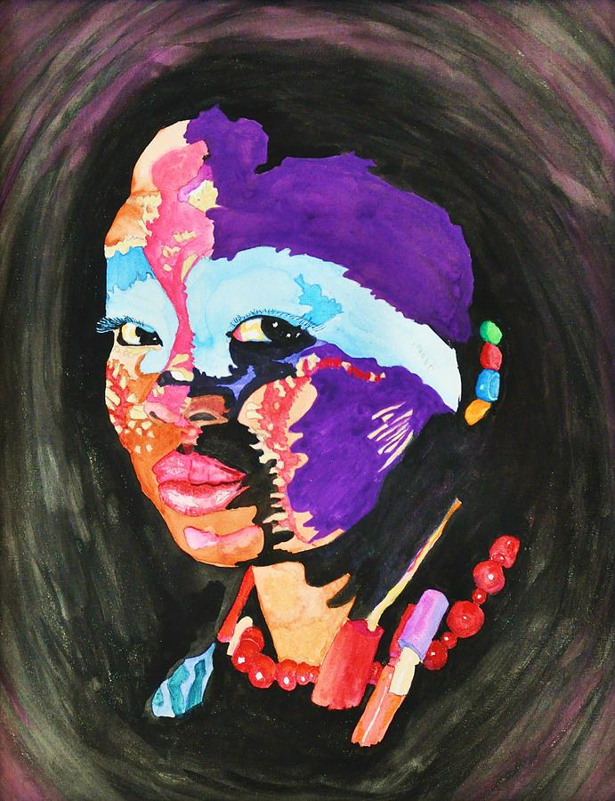 African Woman Drawing  - African Woman Fine Art Print