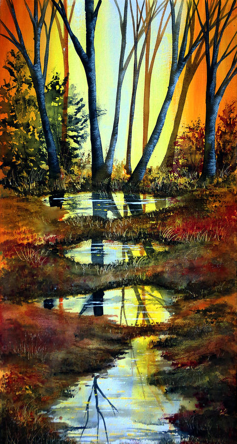 Nature Painting - After The Rain by Ann Marie Bone