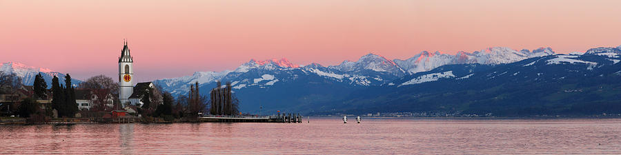 Swiss Photograph - Afterglow by Marc Huebner