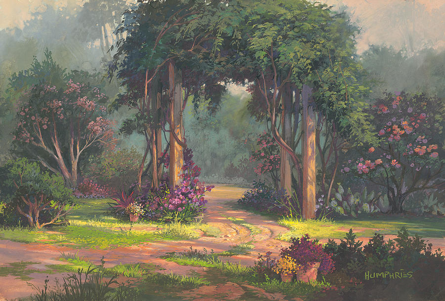 Landscape Painting - Afternoon Arbor by Michael Humphries