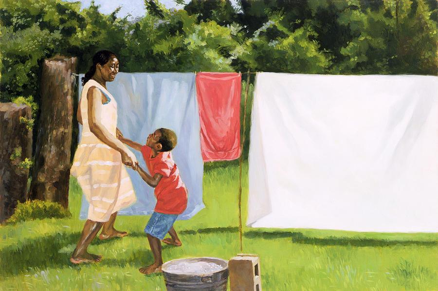 Afternoon Break Painting