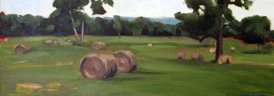 Afternoon Hay Painting  - Afternoon Hay Fine Art Print
