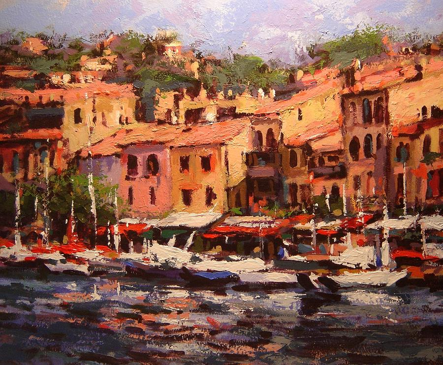 Afternoon In Cassis Painting  - Afternoon In Cassis Fine Art Print