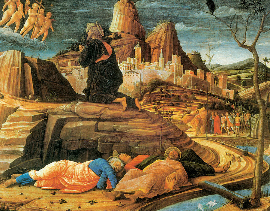 Agony In The Garden Painting By Andrea Mantegna