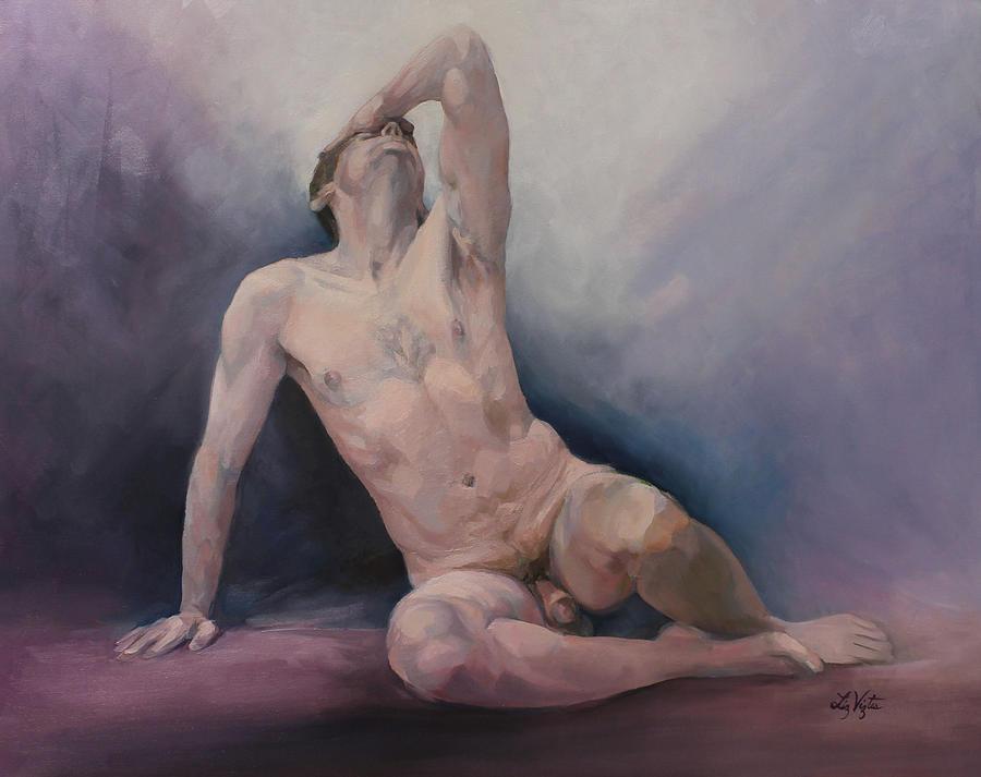 Liz Viztes Painting - Agony by Liz Viztes
